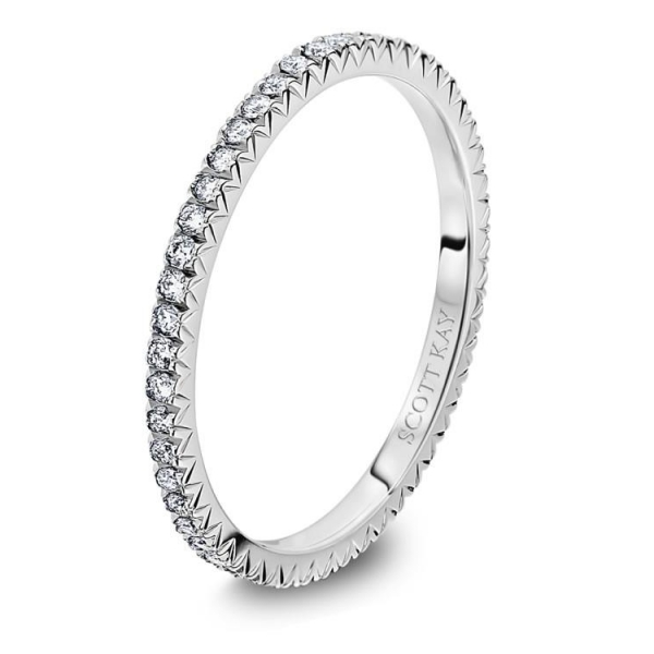 Scott Kay | 14K White Gold Pavéé Eternity Diamond Wedding Band | Style No. 001-742-00206