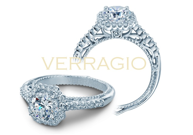 Venetian diamond engagement ring Verragio AFN-5024-1