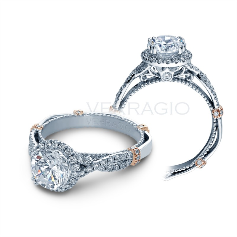 Parisian Collection Diamond Halo engagement ring for her D106RGOLD