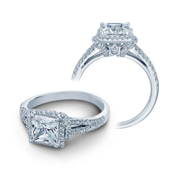 Couture princess diamond engagement ring ENG-0381P