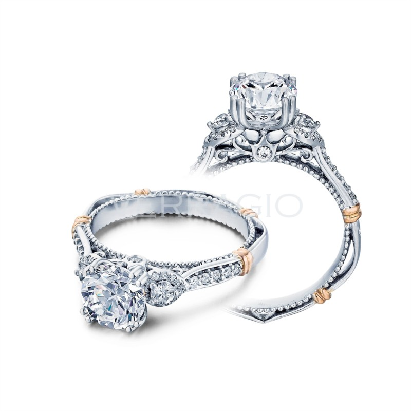 Verragio Engagement ring with Pear Shaped Halo Clusters DL-128-GL