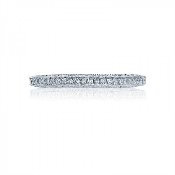 Tacori Classic Crescent Collection | White Gold Diamond Band | Style No. 001-760-03220