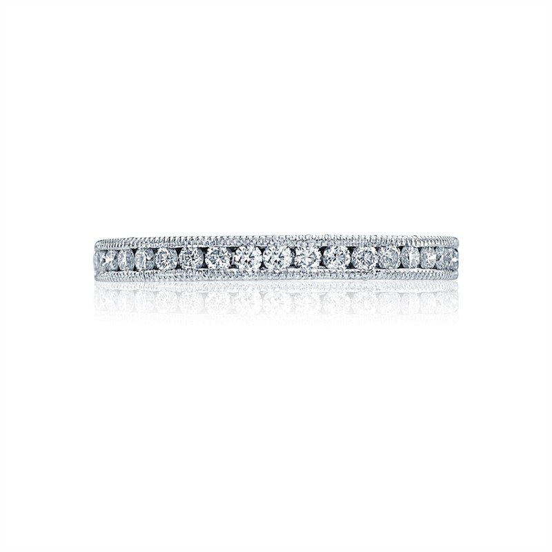 Tacori Blooming Beauties Collection | Diamond & White Gold Wedding Band | Style No. 001-760-01898