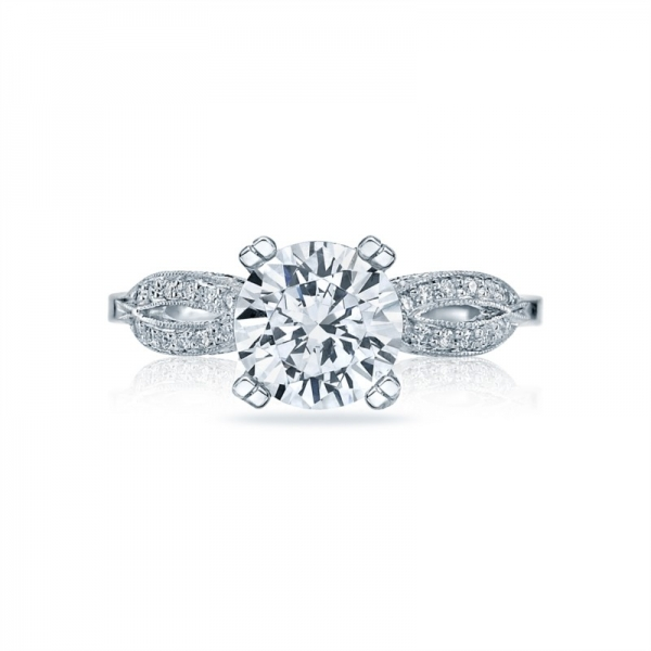 Tacori Ribbon Collection Engagement Ring 2573MDRD75W - Tacori
