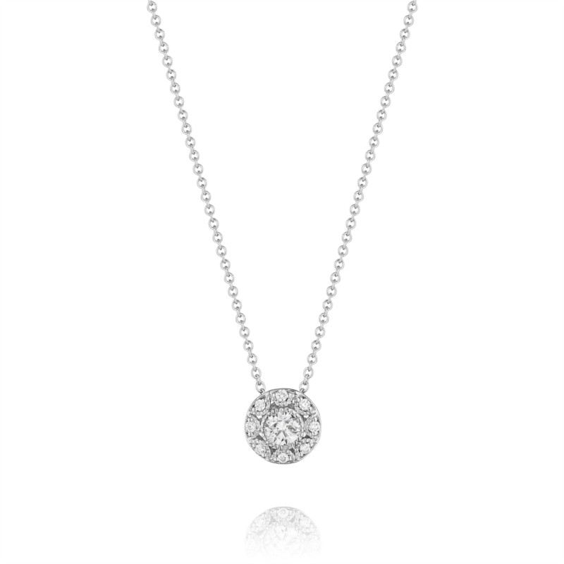 Tacori Classic Crescent Collection | White Gold Diamond Pendant | Style No. 001-760-02152