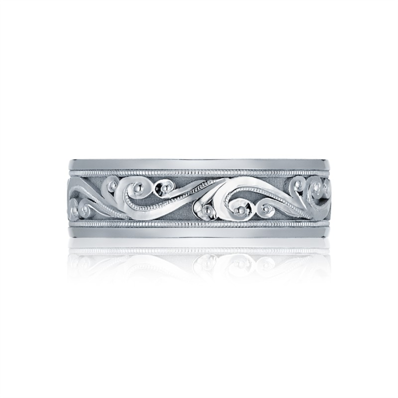 Tacori Sculpted Crescent Collection | White Gold Men's Band | Style No. 001-760-02189