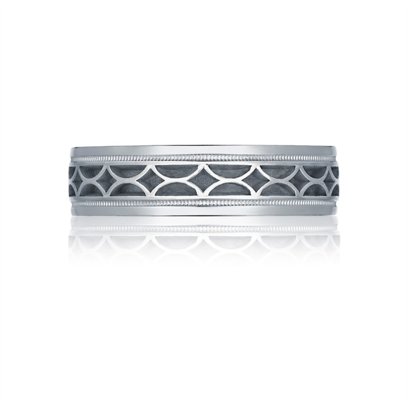 Tacori Sculpted Crescent Collection | 18K White Gold Men's Ring | Style No. 001-760-02185