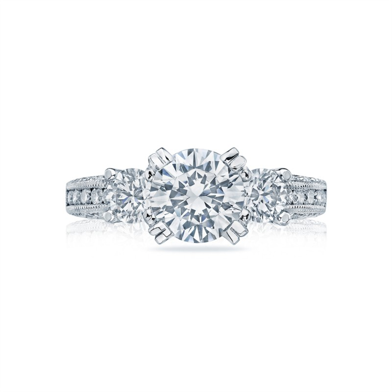White Gold Three Stone Tacori Ring HT2326SM1/2XW