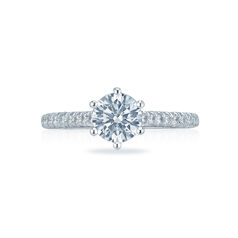 White Gold Cathedral Tacori Engagement Ring HT2546RD6W