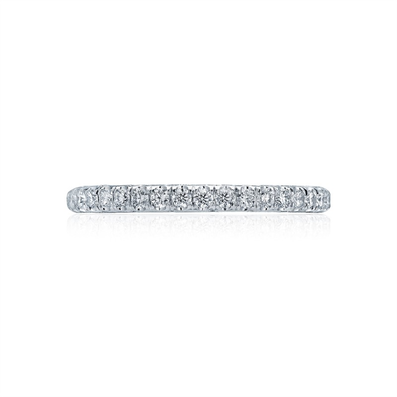 Tacori Classic Crescent Collection | Platinum Prong Set Crescent Eternity Ring | Style No. 001-760-02328