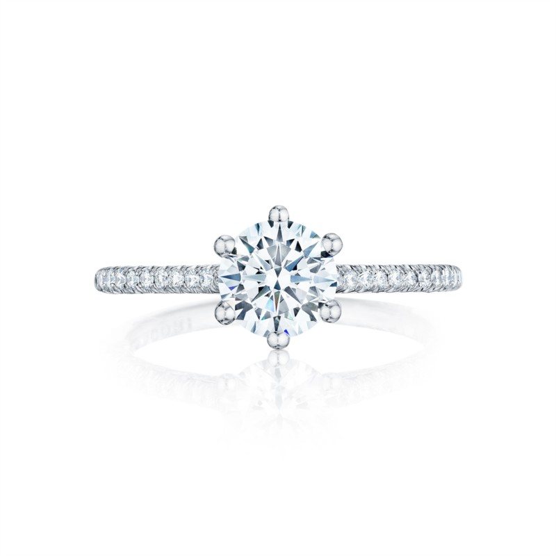 Tacori Petite Crescent Collection | Woman's Engagement Ring | Style No. HT25461.5RD6W
