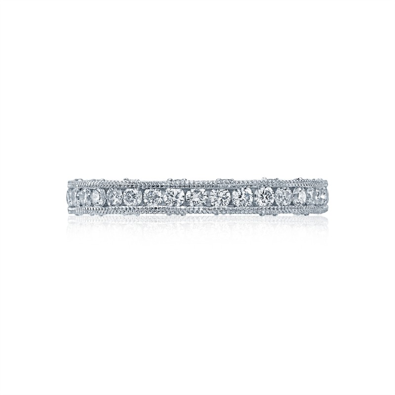 Tacori Crescent Collection | White Gold Channel Set Wedding Band | Style No. 001-760-02588
