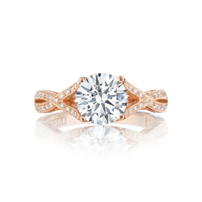 Tacori Pretty in Pink Collection | Rose Gold Twist Ring Setting 2565MDRD75PK | Style No. 2565MDRD7.5PK
