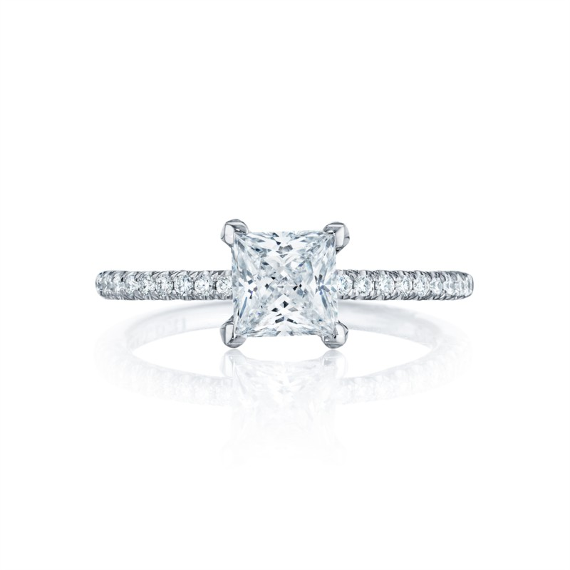 Tacori Petite Crescent Collection | Princess Engagement Ring Setting | Style No. 001-760-02614