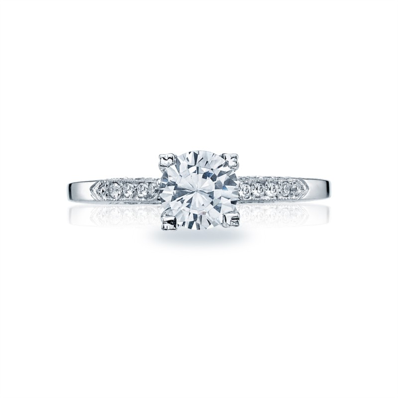 Tacori Simply Tacori Collection | 18K White Gold Engagement Ring 2586RD75W | Style No. 2586RD7.5W