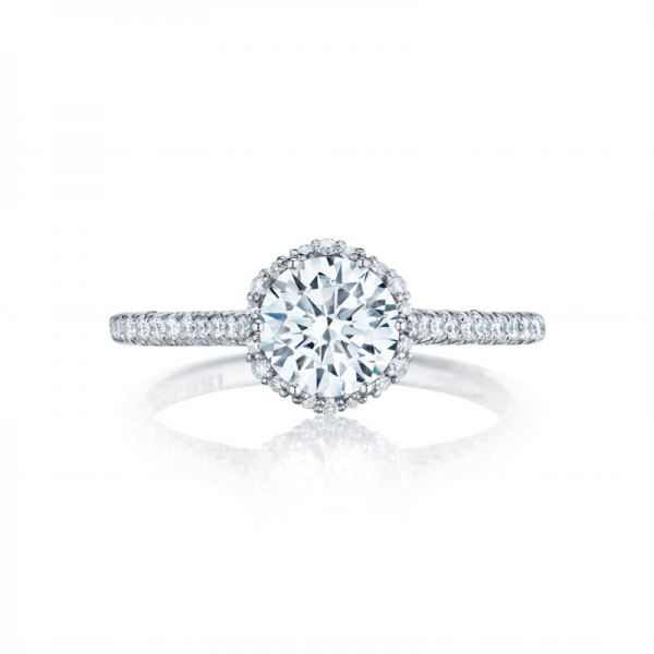 Tacori Petite Crescent Collection | Halo Engagement Ring | Style No. 001-760-02880 - Tacori