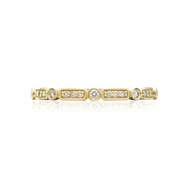 Tacori Sculpted Crescent Collection | Yellow Gold Bezel Wedding Band | Style No. 001-760-03112