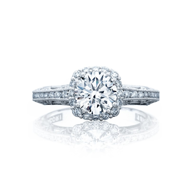 Round White Gold Engagement Ring 2618CU6W - Tacori