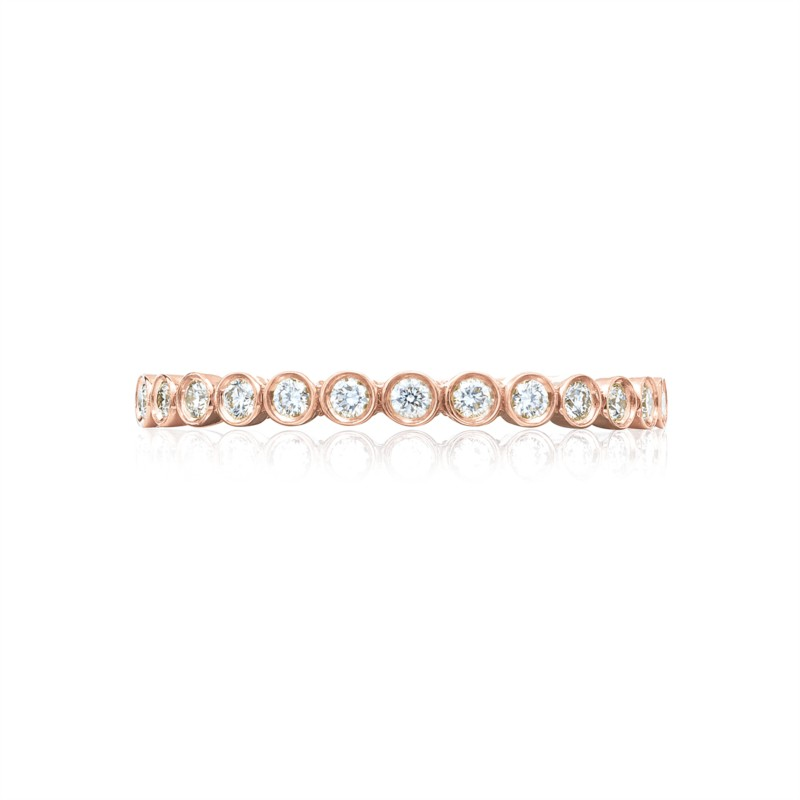 Tacori Sculpted Crescent Collection | Rose Gold Bezel Woman's Band | Style No. 001-760-03129