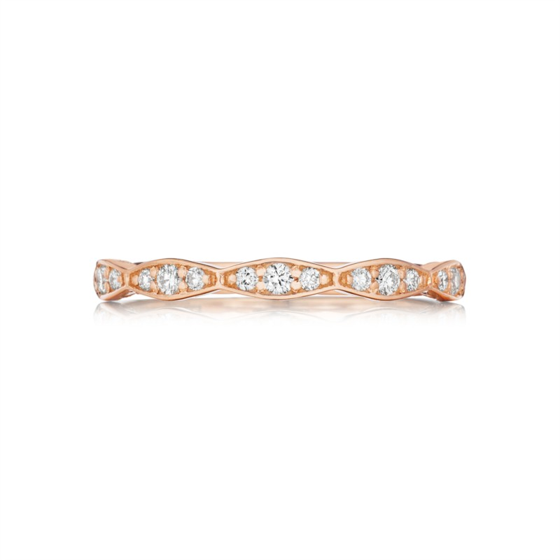 Tacori Pretty in Pink Collection | Rose Gold & Diamond Woman's Band | Style No. 001-760-03181