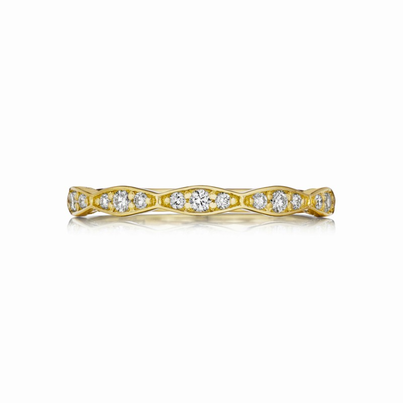 Tacori Sculpted Crescent Collection | Yellow Gold Eternity Woman's Band | Style No. 001-760-03211
