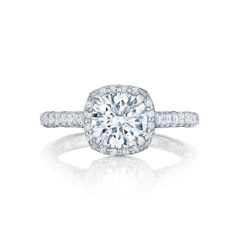 Petite Crescent | Cushion Engagement Ring