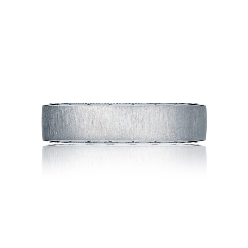 Tacori Sculpted Crescent Collection | White Gold 6mm Men's Ring | Style No. 001-760-03247