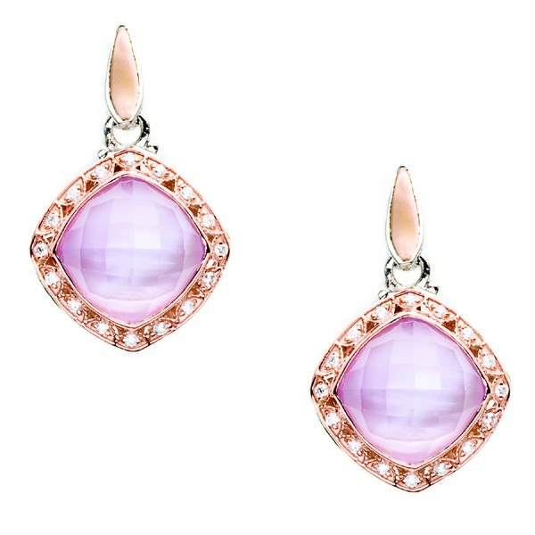 Tacori Lilac Blossoms Collection | Rose Gold Earrings with Rose Amethyst & Mother of Pearl | Style No. 001-761-00206 SE101P14