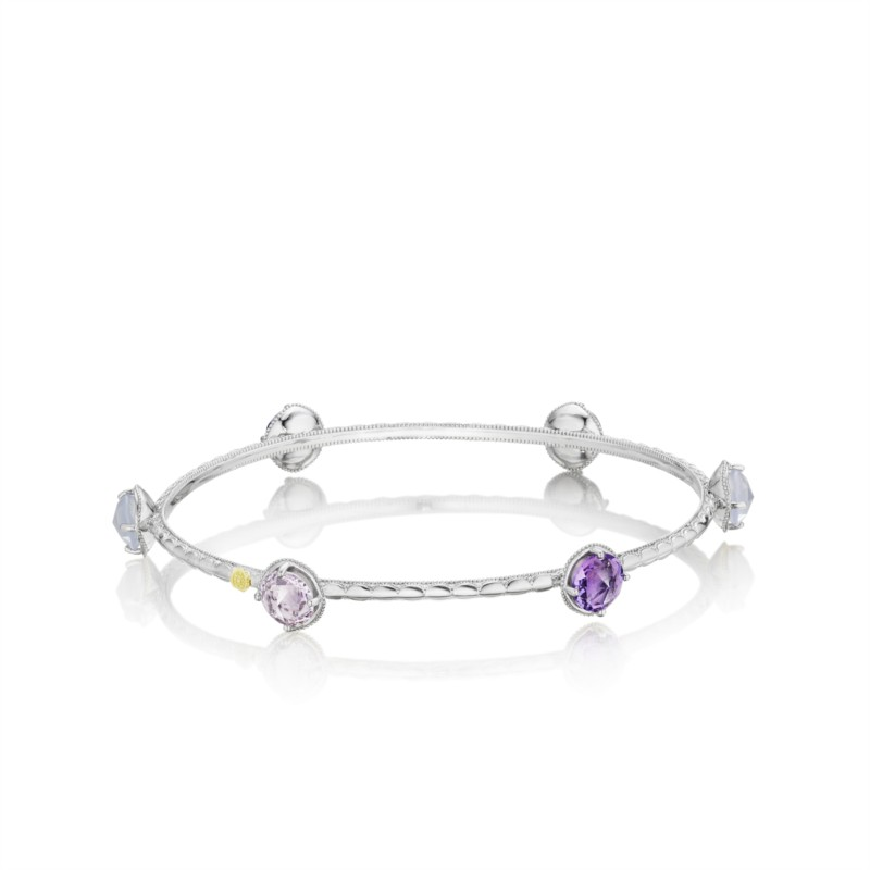 Tacori Lilac Blossoms Collection | Amethyst, Rose Quartz, & Chalcedony Bracelet | Style No. 001-761-00328 SB124130126