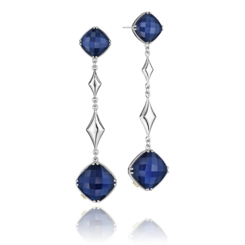 Tacori City Lights Collection | Yellow Gold & Sterling Silver Earrings with Blue Quartz | Style No. 001-761-00400 SE17035