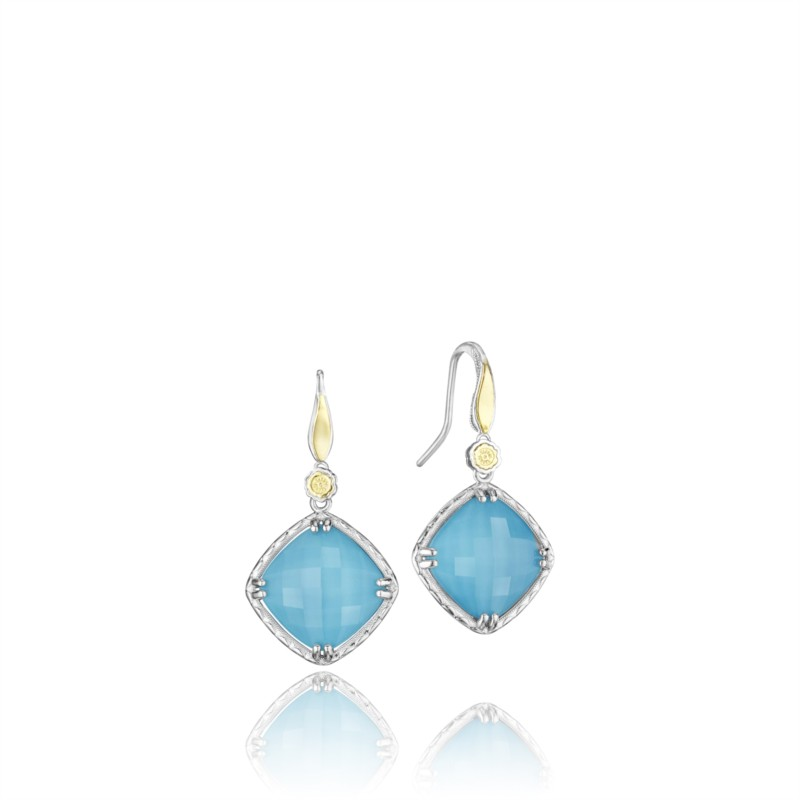 Tacori Island Rains Collection | 18K Yellow Gold Turquoise Earrings | Style No. 001-761-01017 SE137Y05
