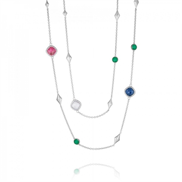 Tacori City Lights Collection | Sterling Silver Multi-Color Gemstone Necklace | Style No. 001-761-01103 SN166Y