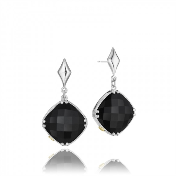 Tacori City Lights Collection | Sterling Silver Cushion Black Onyx Earrings | Style No. 001-761-00737 SE16719