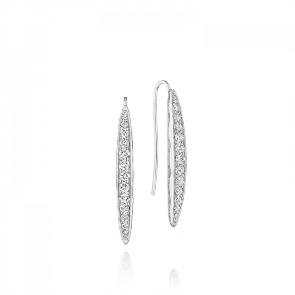 Tacori Ivy Lane Collection | Sterling Silver Earrings with Pavéé Diamond Accents | Style No. 001-761-00783 SE20