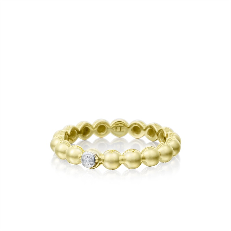 Tacori Sonoma Mist Collection | Yellow & White Gold Beaded Ring | Style No. 001-761-00814 SR191Y