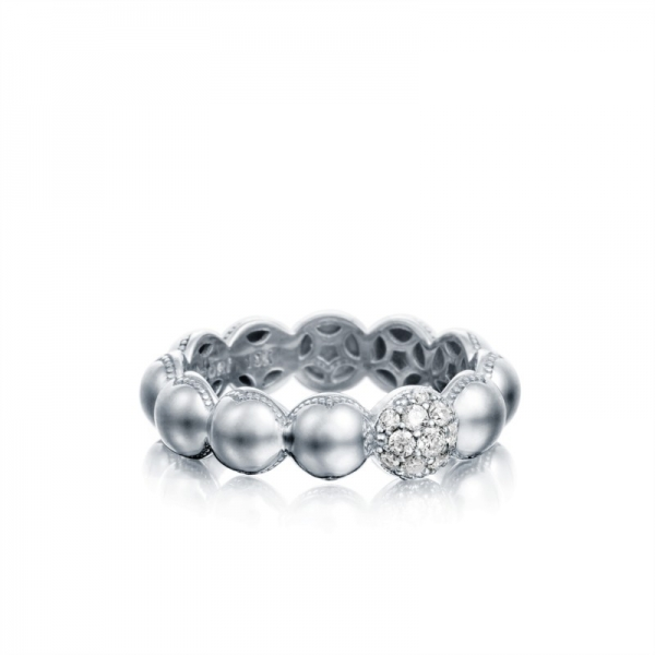 Tacori Sonoma Mist Collection | Beaded Diamond Sterling Silver Ring | Style No. 001-761-00833 SR193