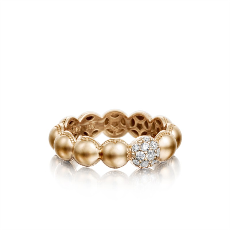 Tacori Sonoma Mist Collection | Rose Gold Diamond Beaded Dome Ring | Style No. 001-761-00852 SR193P