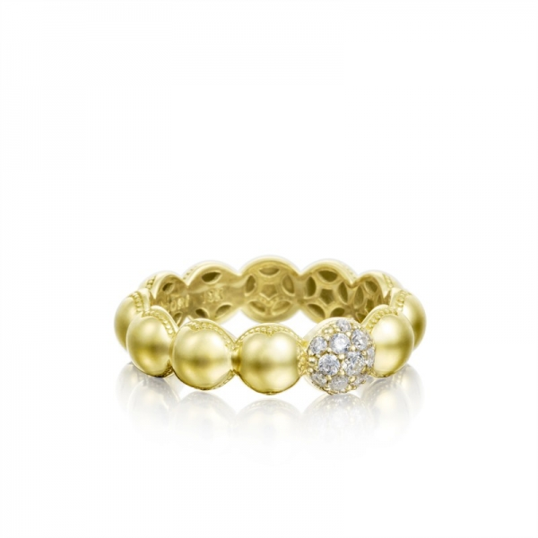 Tacori Sonoma Mist Collection | Beaded Dome Diamond Gold Ring | Style No. 001-761-00836 SR193Y