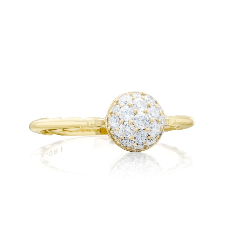 Tacori Sonoma Mist Collection | Yellow Gold Pavéé Diamond Cluster Ring | Style No. 001-761-00839 SR189Y