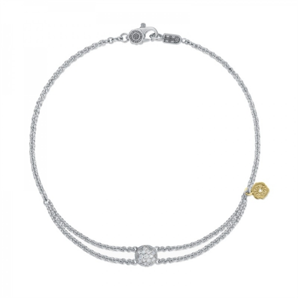 Tacori Sonoma Mist Collection | Sterling Silver Bracelet with Diamond Cluster | Style No. 001-761-00858 SB193