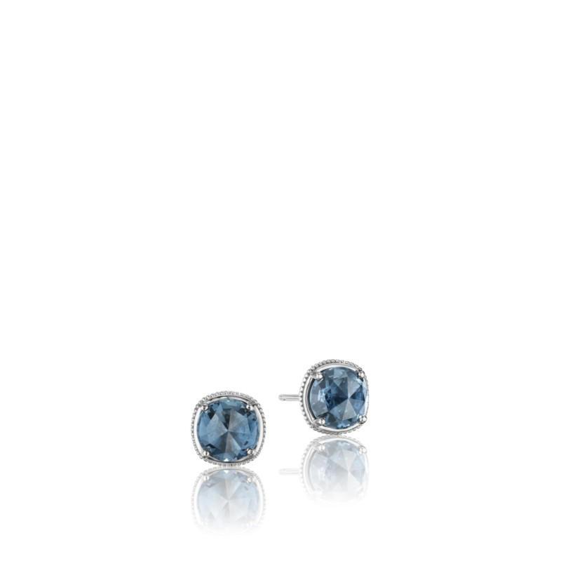 Tacori Island Rains Collection | 18K Yellow Gold London Blue Topaz Earrings | Style No. 001-761-00973 SE15433