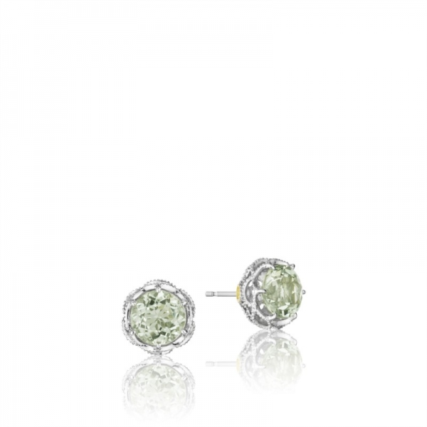 Tacori Color Medley Collection | Prasiolite Sterling Silver Stud Earrings | Style No. 001-761-01030 SE10512