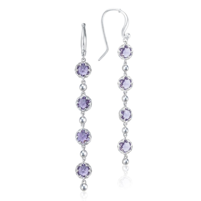 Tacori Sonoma Skies Collection | Sterling Silver & Amethyst Raining Drop Earrings | Style No. 001-761-01032 SE21401