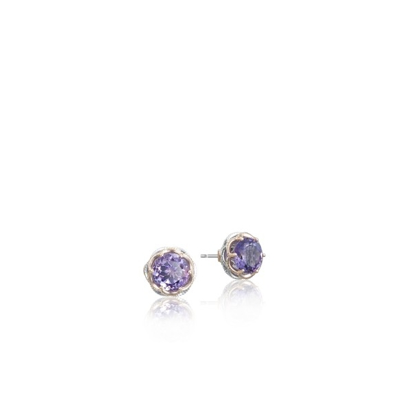 Tacori Lilac Blossoms Collection | Amethyst Sterling Silver Earrings | Style No. 001-761-01039 SE105P01