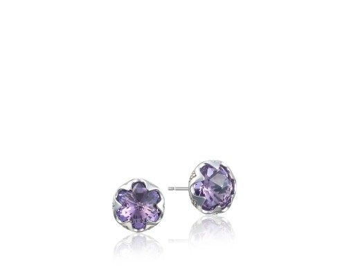 Tacori Sonoma Skies Collection | Sterling Silver Crescent Bezel Amethyst Earrings | Style No. 001-761-01046 SE20801