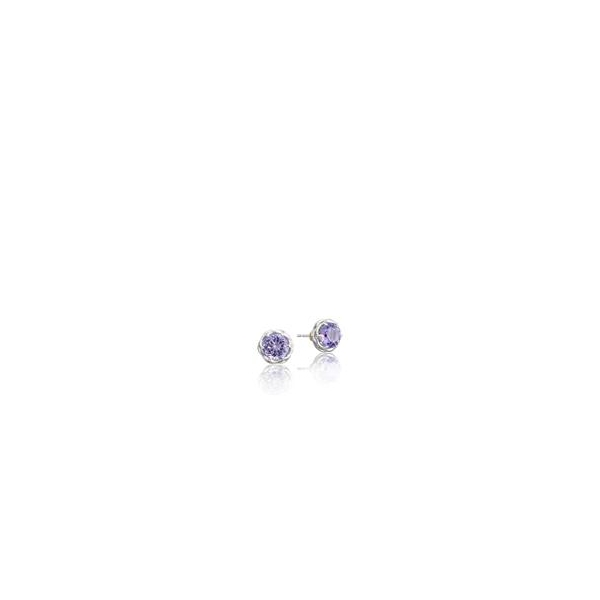 Tacori Lilac Blossoms Collection | Amethyst & Sterling Silver Stud Earrings | Style No. 001-761-01050 SE10501