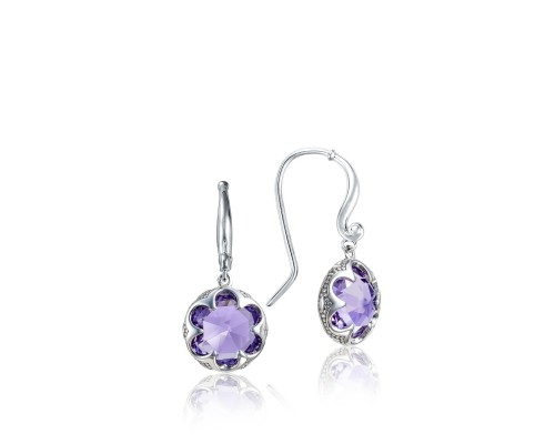 Tacori Sonoma Skies Collection | Sterling Silver Crescent Amethyst Drop Earrings | Style No. 001-761-01058 SE21101