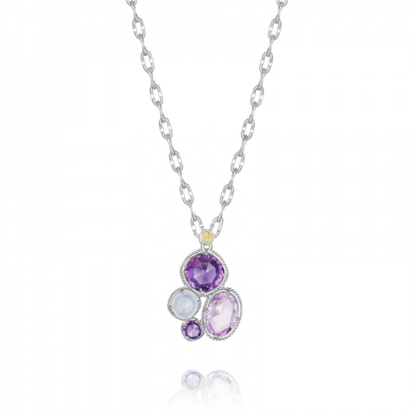 Tacori Lilac Blossoms Collection | Sterling Silver Rose Amethyst & Amethyst Necklace | Style No. 001-761-01074 SN144130126