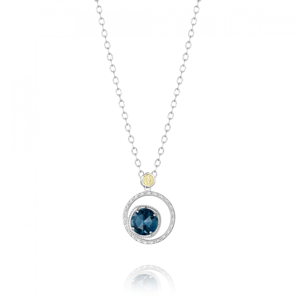 Tacori Island Rains Collection | Sterling Silver & London Blue Topaz Necklace | Style No. 001-761-01078 SN14133