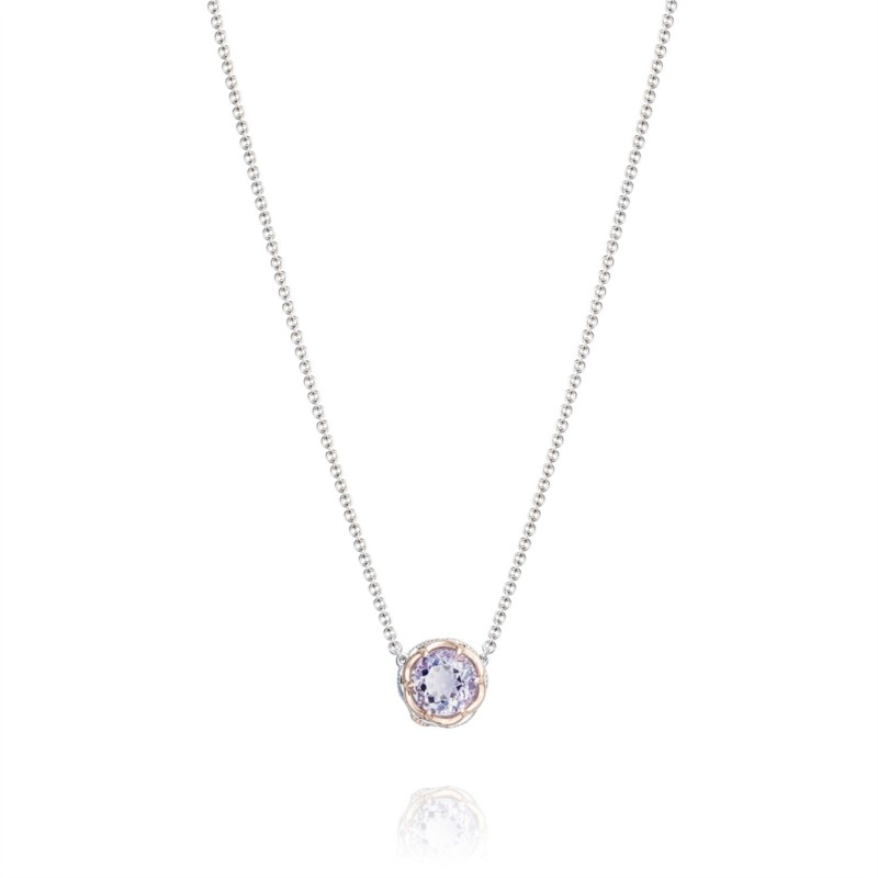 Tacori Lilac Blossoms Collection | Sterling Silver Necklace & Amethyst Pendant | Style No. 001-761-01088 SN204P13